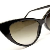 Amazon.com: Cateye Retro Classic Sunglasses Womens Wm501 (black, uv400): Clothing