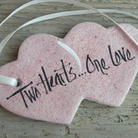 Valentine Gift Tag Salt Dough Heart Ornament