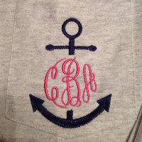 Anchor monogrammed pocket shirt