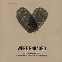 All because of him...?  / Both his and her fingerprint make a heart. LOVE this!