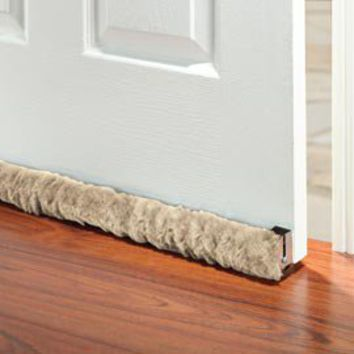 Rolling draft guard door draft stopper from solutions for Door draft stopper
