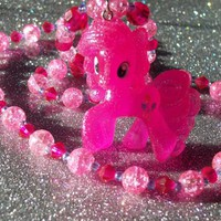 Glitter Pinkie Pie Necklace from On Secret Wings