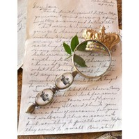 French Style Ornate Crown Magnifying Glass