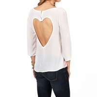 Rose And White Heart Back Top