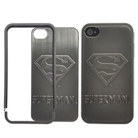 Superman Avenger 3D Metal Skin Hard Case for iPhone 4/4S - Retail Packaging - 1 Pack