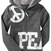Girls Graphic Zip Hoodies