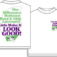 Amazon.com: Look Good Girls Lacrosse Short Sleeve T-Shirt: Clothing