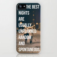 The Best Nights iPhone Case by Caleb Troy | Society6
