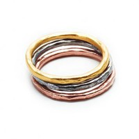 Dogeared Karma Mixed Metal Rings
