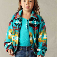 Boy's & Girl's Fleece Indian Print Jacket, Children's Coats & Jackets