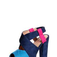 Kendra Navy Colour Block Heels