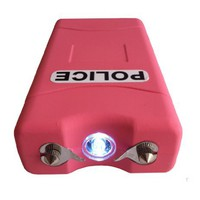 POLICE 7,800,000 V Stun Gun VC w/ Flashlight (Pink)