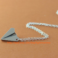 One Direction Paper Airplane Necklace Harry Styles Paper Airplane Charm