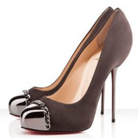 Christian Louboutin Sude Metalipp 120mm Pumps