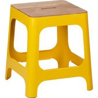 hitch marigold stool in color | CB2