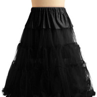 Va Va Voluminous Petticoat in Black | Mod Retro Vintage Underwear | ModCloth.com