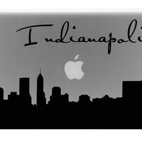 Indianapolis Skyline Macbook Decal With Writing / Macbook Sticker / Laptop Decal