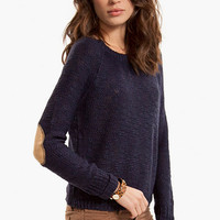 Wear with Suede Elbows Sweater $39