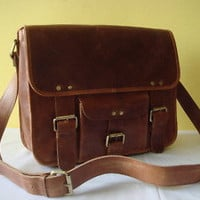 Leather Bag Messenger Shoulder Cross body Bag Satchel Small Handbag Purse