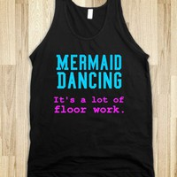 mermaid dancing-it's a lot of floor work - glamfoxx.com