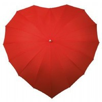Heart Shaped Umbrella (Red)