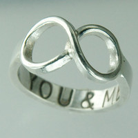 You &amp; ME Infinity Symbol Ring Sterling Silver by Excognito on Etsy