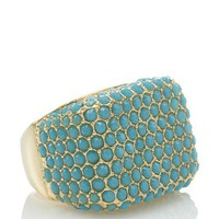 Glitterrings Turquoise Rectangular Cabochon Ring
