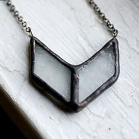 Frost Chevron Necklace