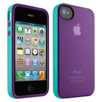 Belkin Grip Candy Case for iPhone4 - Purple/Blue (F8Z813ebC02)