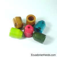 Terminal for Curtain 18x23mm Tagua Bugle Bead (1 unit)