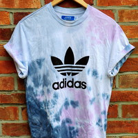 Cryptic Cult  tie dye ADIDAS originals trefoil t shirt