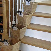 Crafty Ideas / Crap baskets....take your crap upstairs!