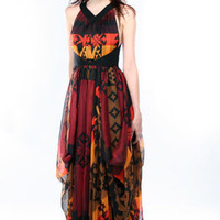 LAMB Navajo Printed Maxi Dress | L.A.M.B. Dress | LAMB Clothing