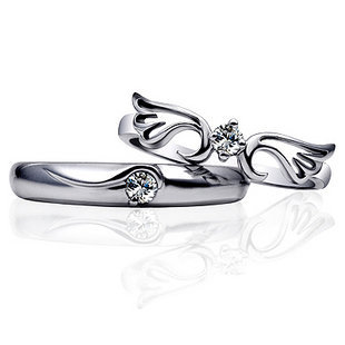 Gullei Trustmart : With You Forever Zircon Couple Rings [T1B531] - $25.00 - Couple Gifts, Unique USB Gadgets, Best iPad/iPod/iPhone Covers & Home Decor