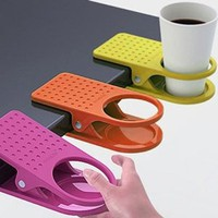Amazon.com: New Home Office Drink Cup Coffee Holder Clip Desk Table By Buyinconis: Everything Else