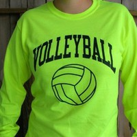 Amazon.com: Neon Volleyball Long Sleeve T-shirt: Sports & Outdoors