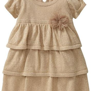 Metallic Ruffled Dresses for Baby