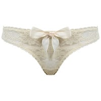 Cream Lace Brief - Lingerie - Clothing - Miss Selfridge