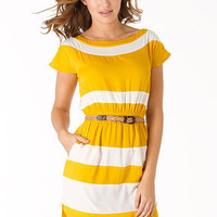 Lucy Wide-Stripe Dress at Alloy