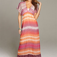 Alena Kimono-Sleeve Maxi Dress at Alloy