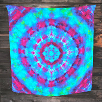 Wearable ART - SILK Tie Dye STAR Scarf / Tapestry / Wall Hanging