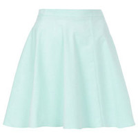 Mint Baby Cord Skater Skirt - Skirts  - Clothing