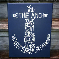 Canvas Painting  Anchor by JordansCanvas on Etsy