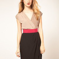 Coast | Coast Bright Belted 2 In 1 Dress at ASOS