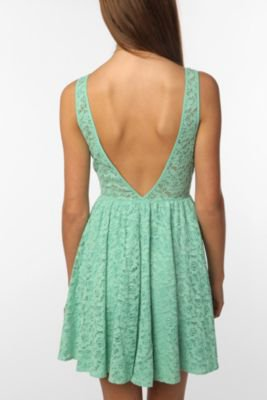 UrbanOutfitters.com > Pins and Needles Lace Deep V-Back Dress