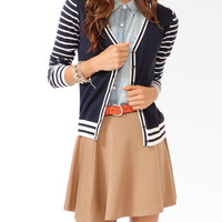 Striped Trim Cardigan
