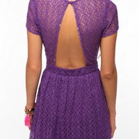 Pins and Needles Geometric Lace Dress