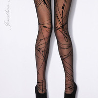 Jonathan Aston Racy Back Seam Unique Tights | Peek Brooklyn Tights