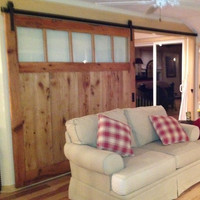 Barn Door Room Divider Made to Order from Reclaimed Oak Barnwood