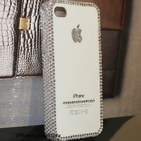 Apple iphone case Crystal iPhone 5 case Bling Bling iPhone 4s case iPhone 4 cover Back case Simple Fashion iPhone cover Handmade iPhone5